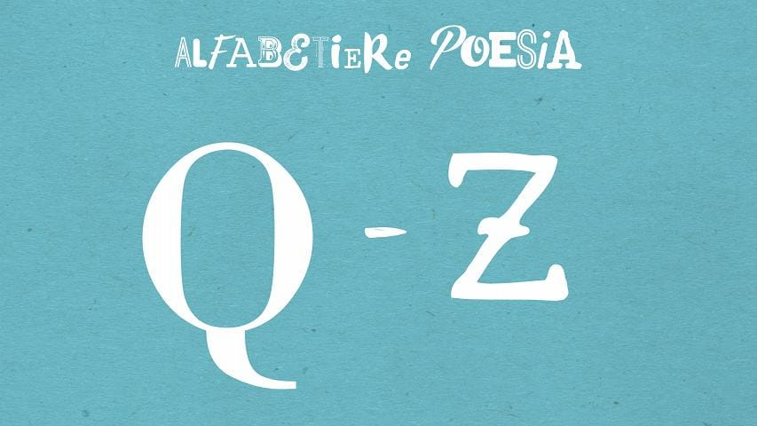 Alfabetiere dalla Q alla Z - Gli speciali di Radio3 - Rai Radio 3 ... b4fd018dfea